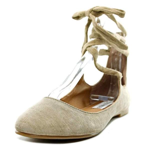 372a5aa97fe New Steve Madden Babett Lace Up Ballet Flats